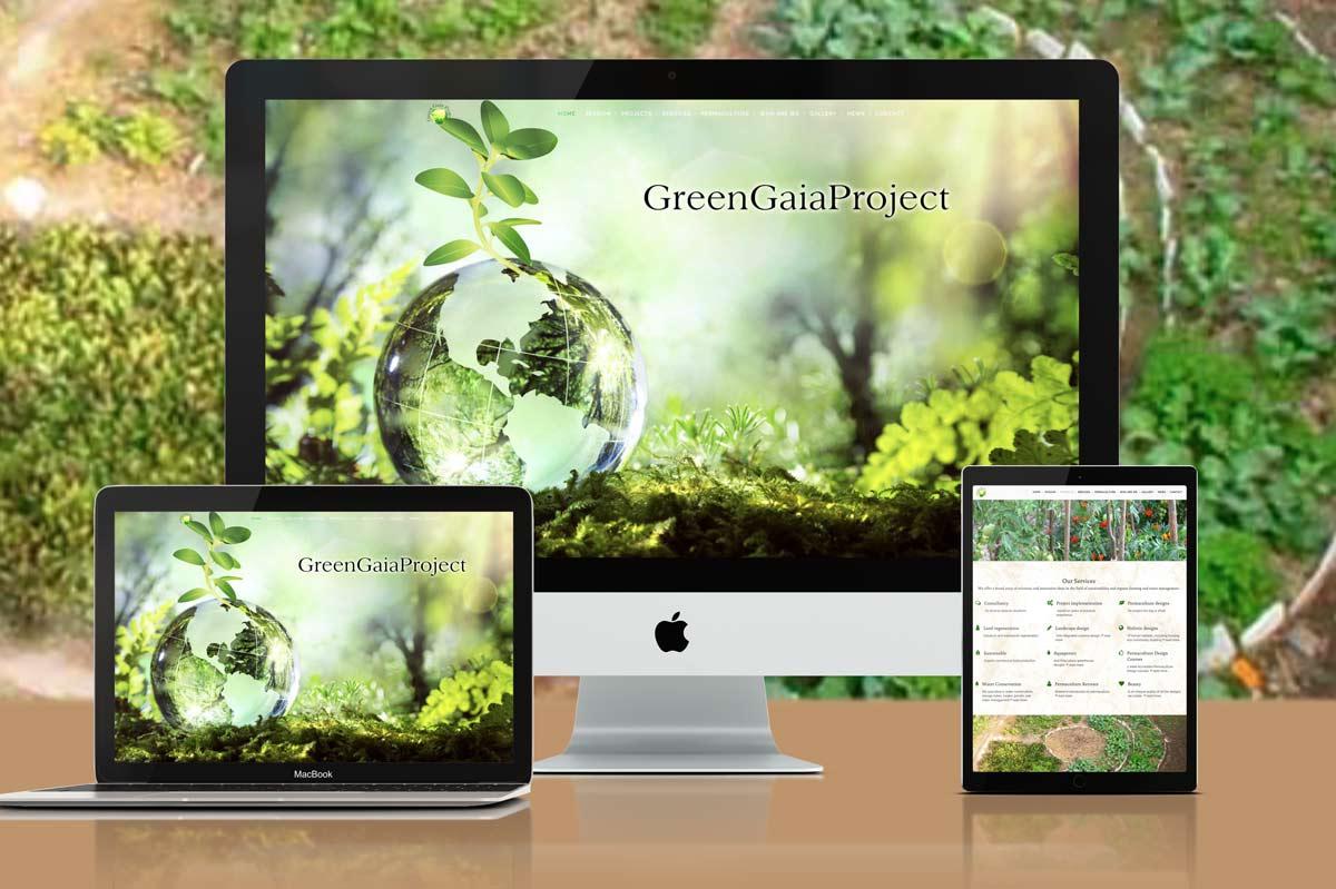 Green Gaia Project - Susie Dove Graphic & Web Design Mullumbimby